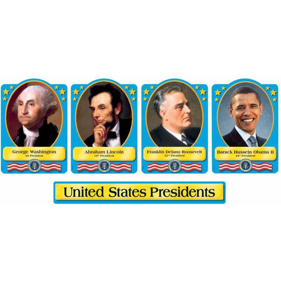 "Trend Enterprises Presidents of the United State Design Bulletin Board Set, 8.62"" x 6"""
