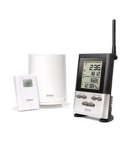 Wireless Rain Gauge with OUTDOOR Therm. by