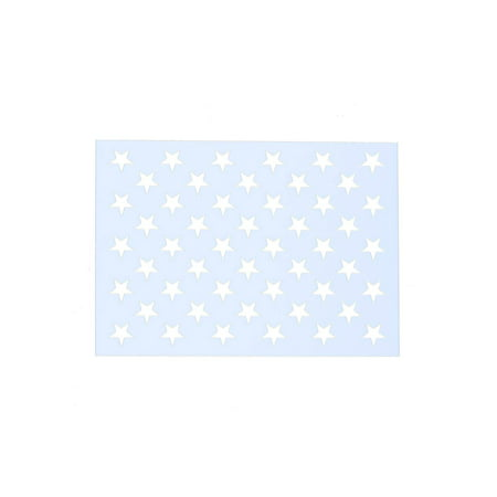 6 Pcs American Flag 50 Star Stencil, Templates for Painting on Fabric, Wood, Paper, Glass, and -