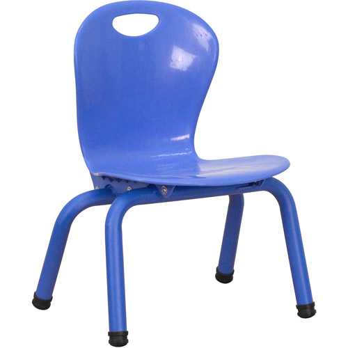 Flash Furniture Plastic Stackable School Chairs with Painted Legs, 10.6'' Seat Height, Set of 4, Multiple Colors