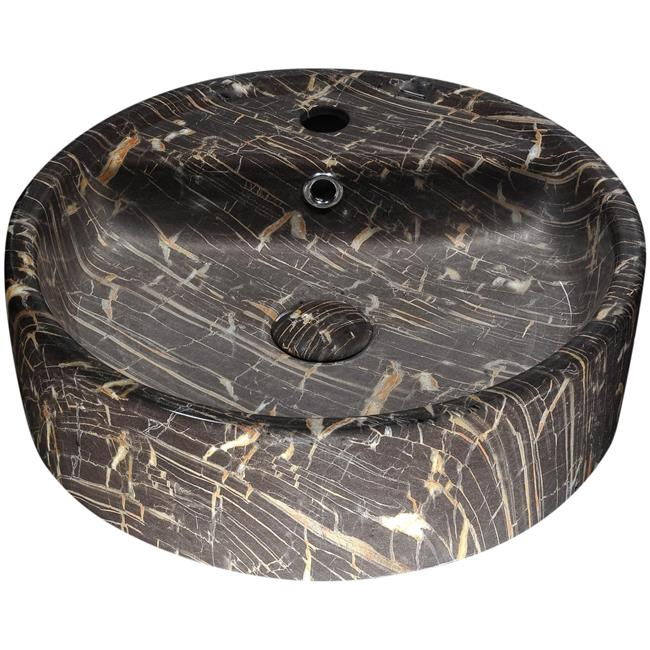 Anzzi LS-AZ258 4.7 x 17.3 x 17.3 in. Rhapsody Series Ceramic Vessel Sink, Neolith Marble - image 1 of 1