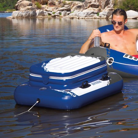 - Intex Inflatable Mega Chill II Cooler Float, 48