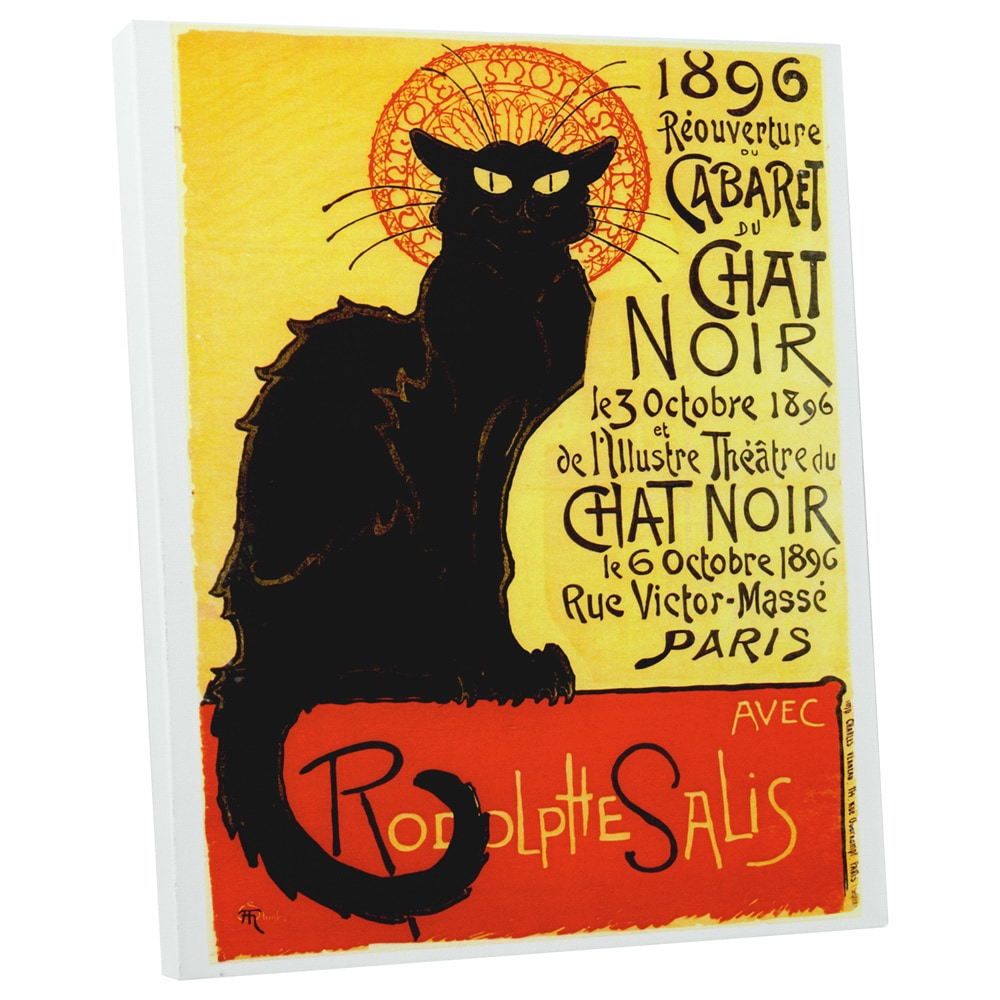 Pingo Wolrd Vintage Apple 'Cabaret Du Chat Noir' Gallery Wrapped Canvas Wall Art