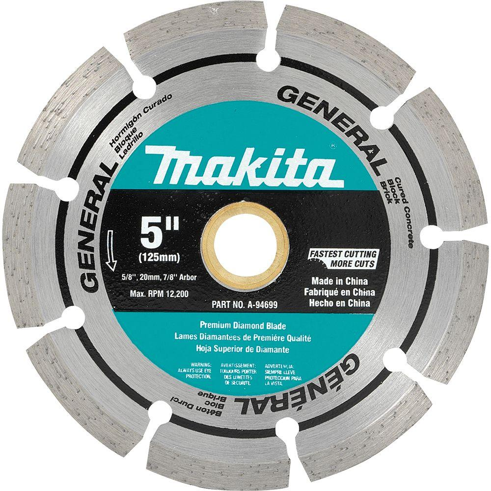 Makita A-94699 5-Inch Diamond Segmented Blade