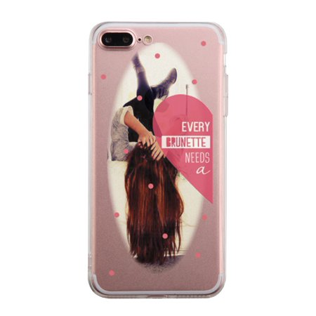 Brunette Best Friend Transparent Phone Case Cute Clear - Best Iphone Clear Case