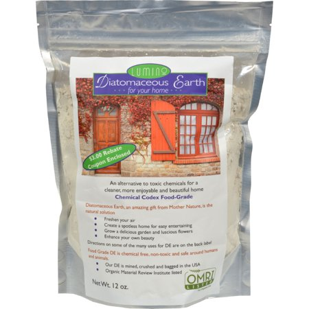 Lumino Diatomaceous Earth for Your Home - 12 oz (Best Way To Apply Diatomaceous Earth Indoors)