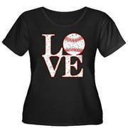Women's Plus-Size Love Baseball T-Shirt