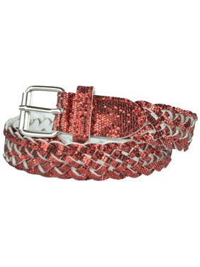 b94925f4b4a0 Product Image Girls Belt - Colorful Metallic Glitter Braided Faux Leather  Belt for Kids by Belle Donne -