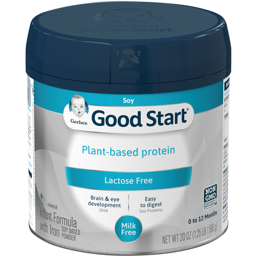 Gerber Good Start Soy Non-GMO Powder Infant Formula, 20 oz Container (Pack of 4)