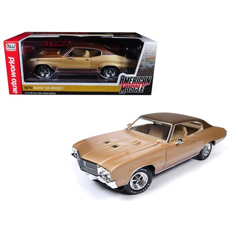 1970 Buick Skylark Engine (1970 Buick Skylark GS Gold Hemmings Muscle Machines Limited Edition to 1002pc 1/18 Diecast Model Car by)