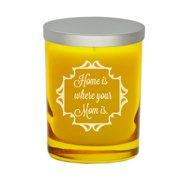 Carved Solutions Gem ''Home is Where Your Mom is'' Jar Candle