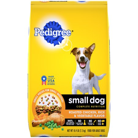 PEDIGREE Small Dog Complete Nutrition Adult Dry Dog Food Roasted Chicken, Rice & Vegetable Flavor, 15.9 lb. (Best Dry Dog Food For Small Dogs 2019)