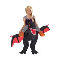 Kids Black Ride On Dragon Inflatable Child Halloween Costume