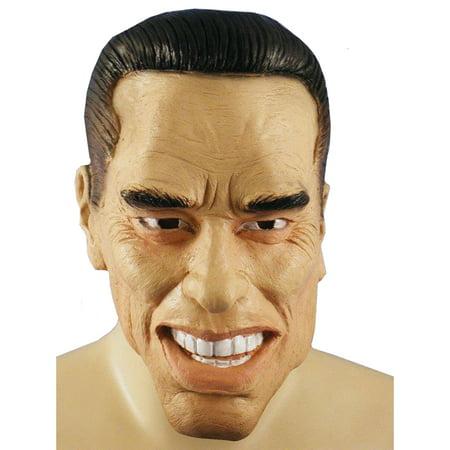 Arnold Schwarzenegger Mask Terminator Governer Adult Full Halloween (Arnold's Halloween)