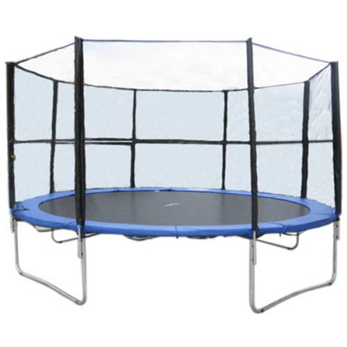 ExacMe 15-Foot Trampoline, with Enclosure and Ladder Combo Set, Blue (Box 1 of 3)