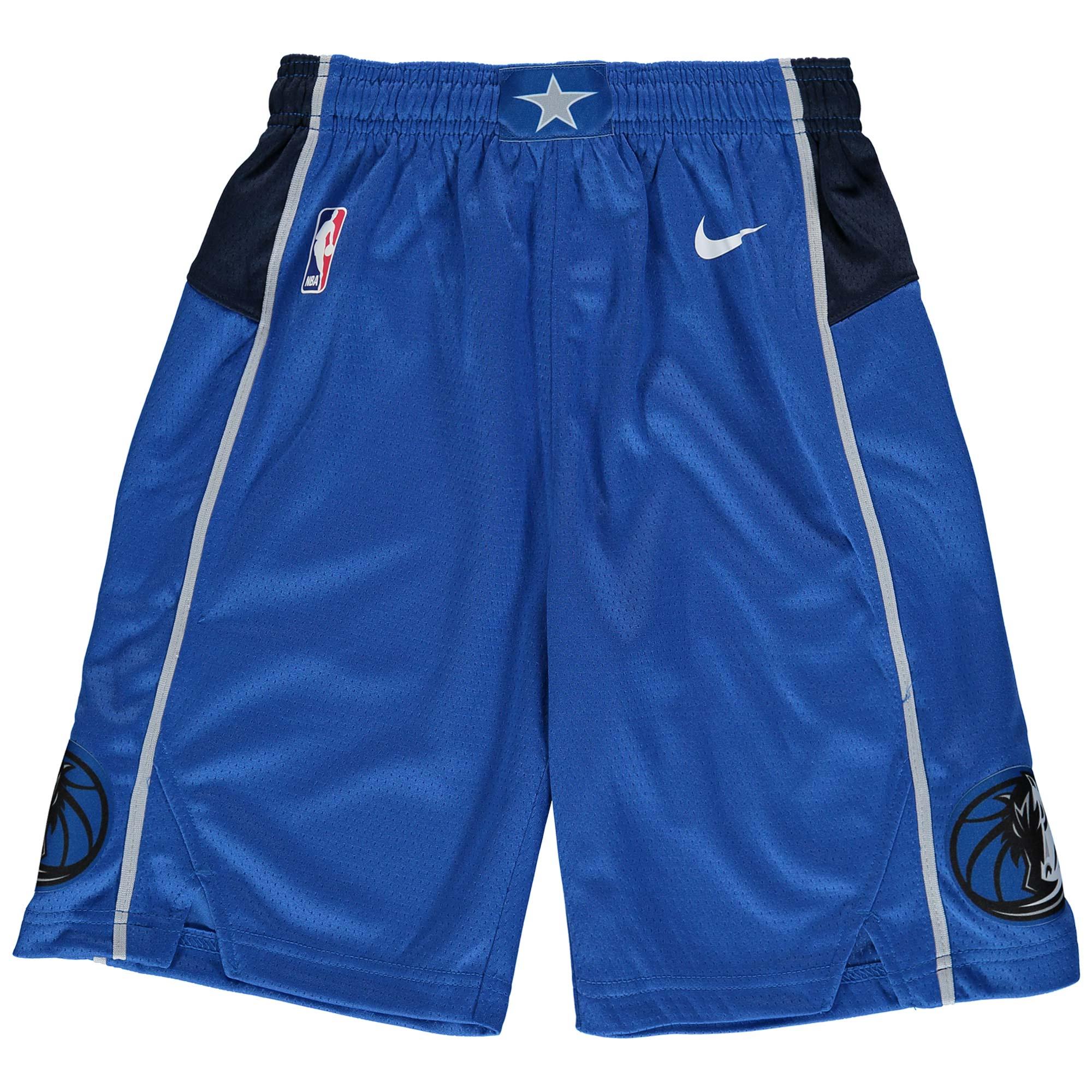 Dallas Mavericks Nike Youth Swingman Icon Performance Shorts - Blue