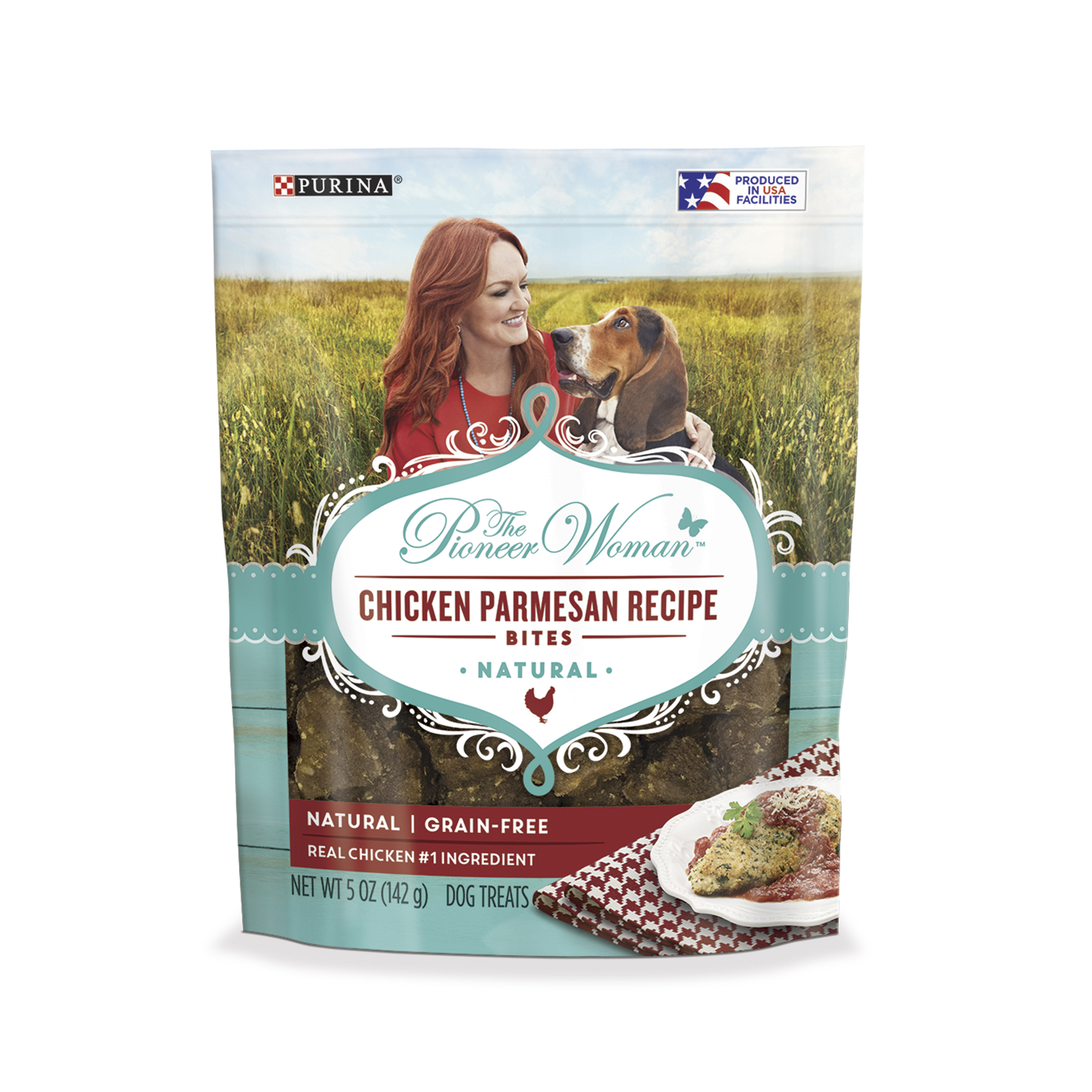 The Pioneer Woman Grain Free, Natural Dog Treats; Chicken Parmesan Recipe Bites - 5 oz. Pouch