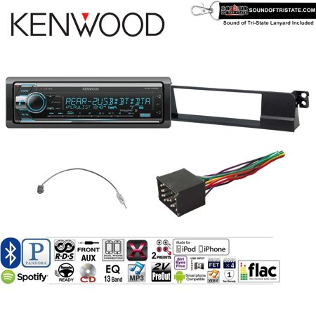 Kenwood KDCX502 Onstall Kit w/ Bluetooth, CD Player, USB/AUX Fits 2002-2005 BMW 325Ci, 325Xi, 330i, and 330xi (DOES NOT WORK WITH VEHICLES WITH FACTORY NAVIGATION) and a SOTS lanyard