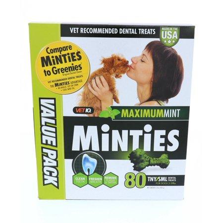 Minties Teeth Cleaner Dental Dog Treats Tiny/Small, 80 count](Halloween Apple Teeth Treats)