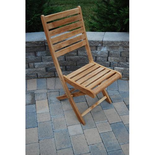 Arbora Teak St. Bart Folding Dining Side Chairs (Set of 2)