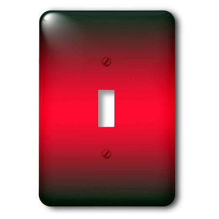 3dRose Black, Red, Black Gradient Color, 2 Plug Outlet Cover