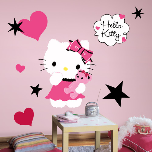 Room Mates Popular Characters Hello Kitty Couture Giant Wall Decal