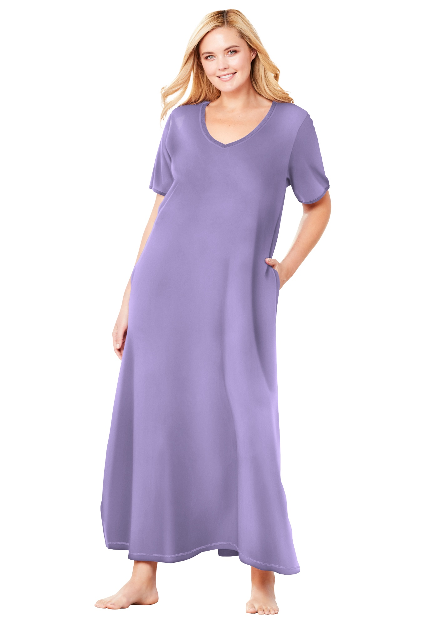 Womens Plus Size Long T-Shirt Lounger Dreams /& Co