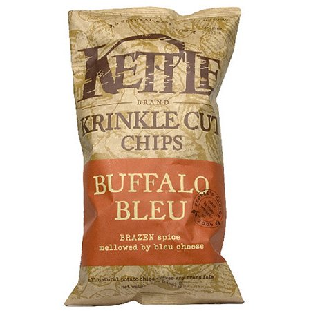 - Kettle Brand Chips Buffalo Bleu Krinkle Kut Potato Chips, 5 oz, (Pack of 15)