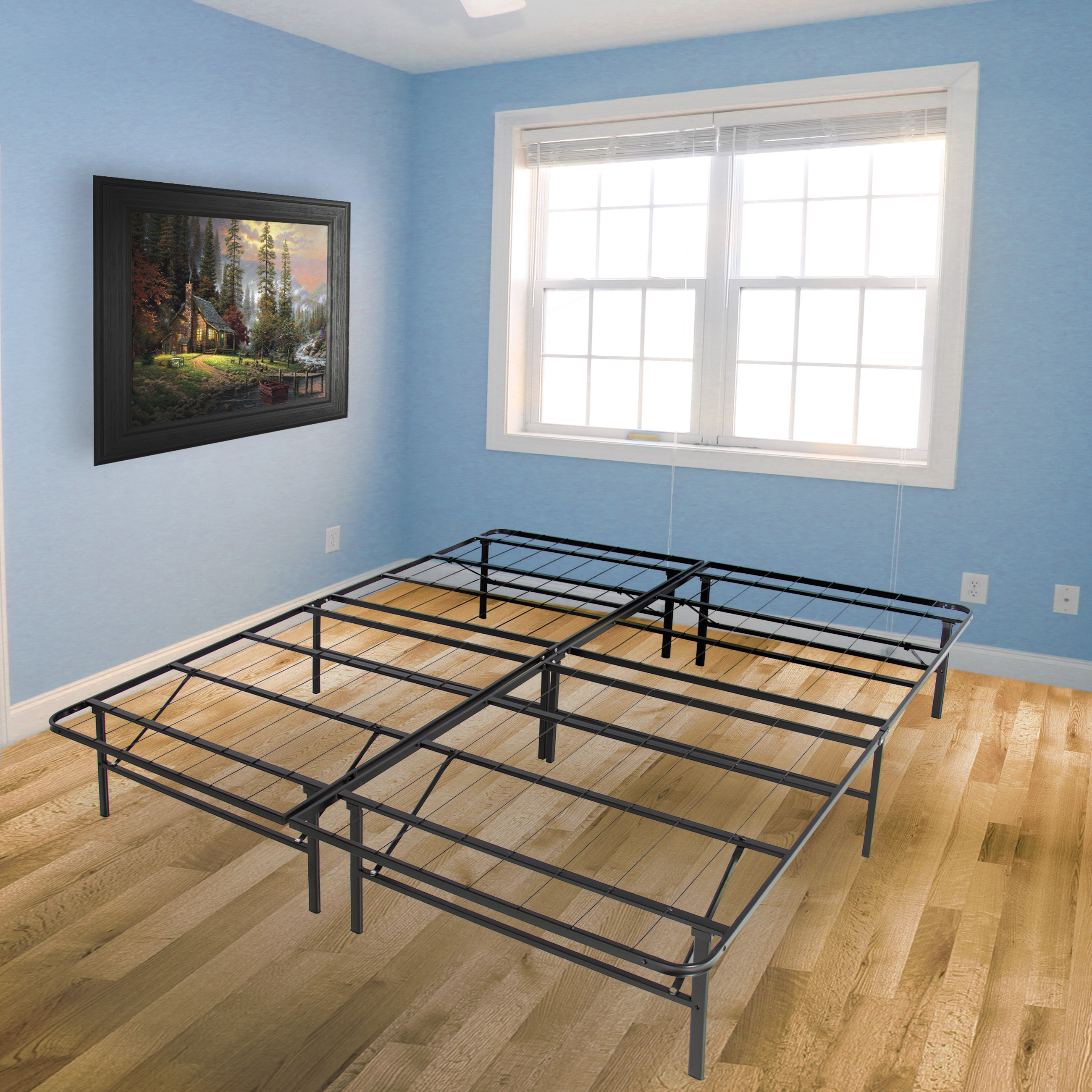 Best Choice Products Platform Metal Bed Frame Foldable No Box Spring Needed Mattress Foundation Queen