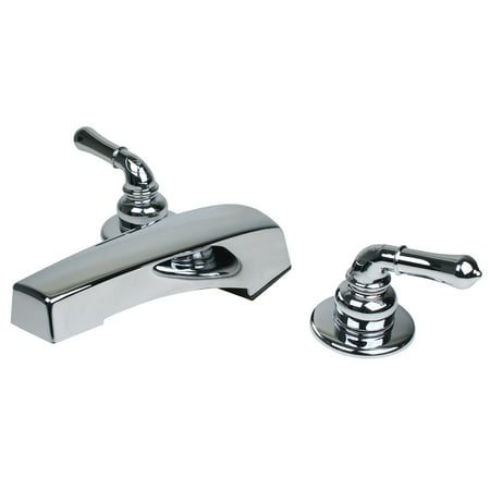 RV Mobile Motor Home Trailer Two Handle Bathroom Roman Tub Faucet - Chrome