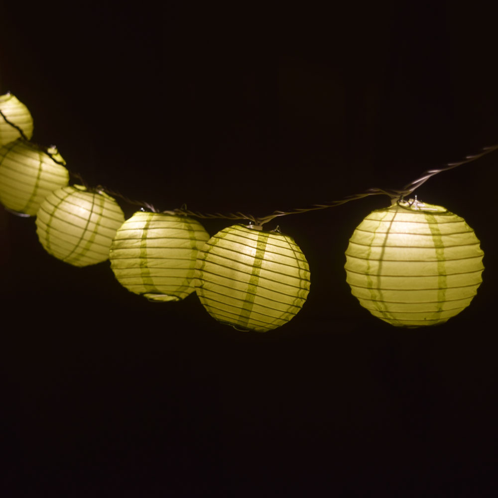 "Fantado 4"" Chartreuse Round Shaped Party String Lights by PaperLanternStore"