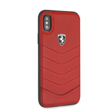 Heritage Case - FERRARI GENUINE RED QUILTED LEATHER HERITAGE CASE (iPhone X)
