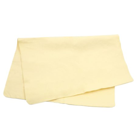 32cm x 43cm Yellow Car Cleaning Towel Synthetic Chamois Leather Washing Cloth - image 2 de 3