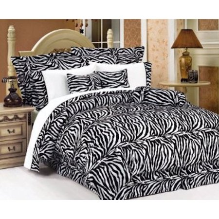 Legacy Decor 5 PC Black and White Zebra Print Faux Fur ...