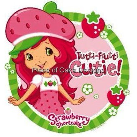 Cool 2 Round Strawberry Shortcake Birthday Edible Image Cake Funny Birthday Cards Online Elaedamsfinfo