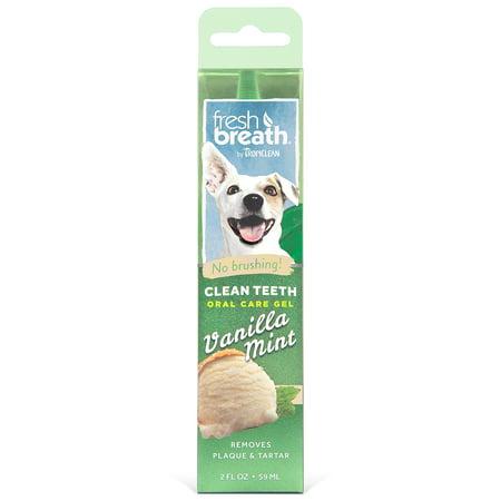 Tropiclean Fresh Mint Foam (Fresh Breath by TropiClean Clean Teeth Oral Care Gel - Vanilla Mint, 2 Oz )