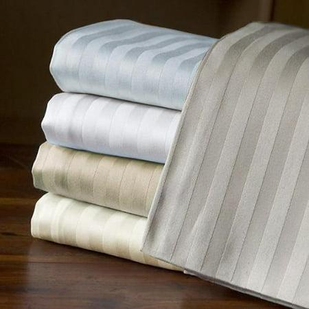 - Echelon Home  Egyptian Cotton 800 Thread Count Deep Pocket Stripe Sheet Set