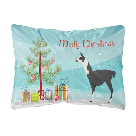 llama q ara christmas canvas fabric decorative pillow