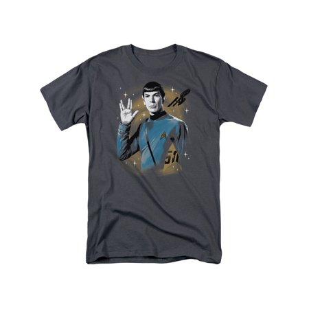 Star Trek Original Series Spock Prosper 50th Anniversary Adult T-Shirt (X-men Star Trek)