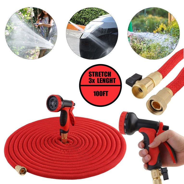 100Ft Flexible Double Layer Expandable Collapsible Garden...