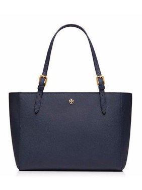 da0e086afcd7 Product Image NEW TORY BURCH LEATHER YORK SMALL BUCKLE TOTE LUGGAGE NAVY  HANDBAG SHOULDER BAG