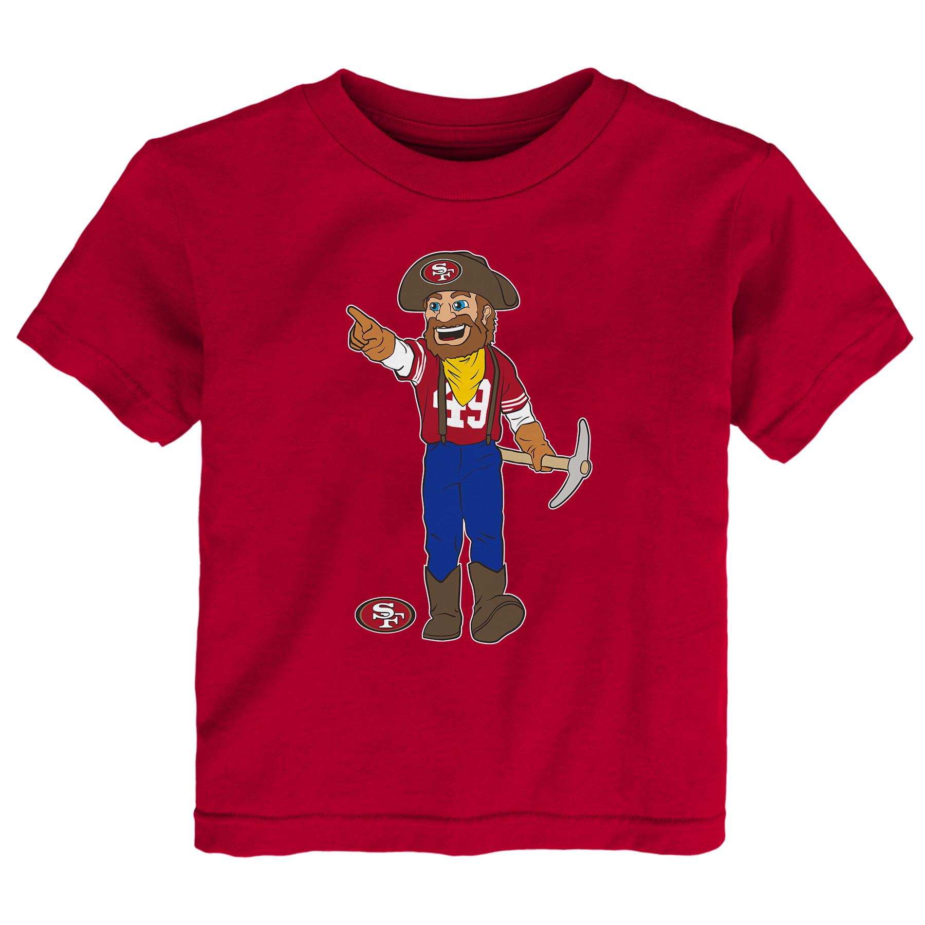 San Francisco 49ers Toddler Standing Team Mascot T-Shirt - Scarlet