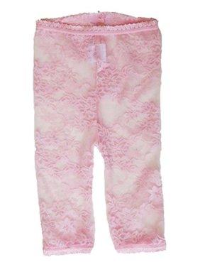 26da49672f6b0 Product Image Baby Bella Maya LL001P12-18 Lacy Leggings Pink 12-18 months