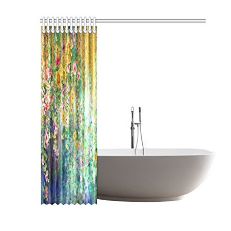 GCKG Spring Sunflower Shower Curtain, Mystic Floral Flower Polyester Fabric Shower Curtain Bathroom Sets with Hooks 60x72 Inches - image 2 of 3
