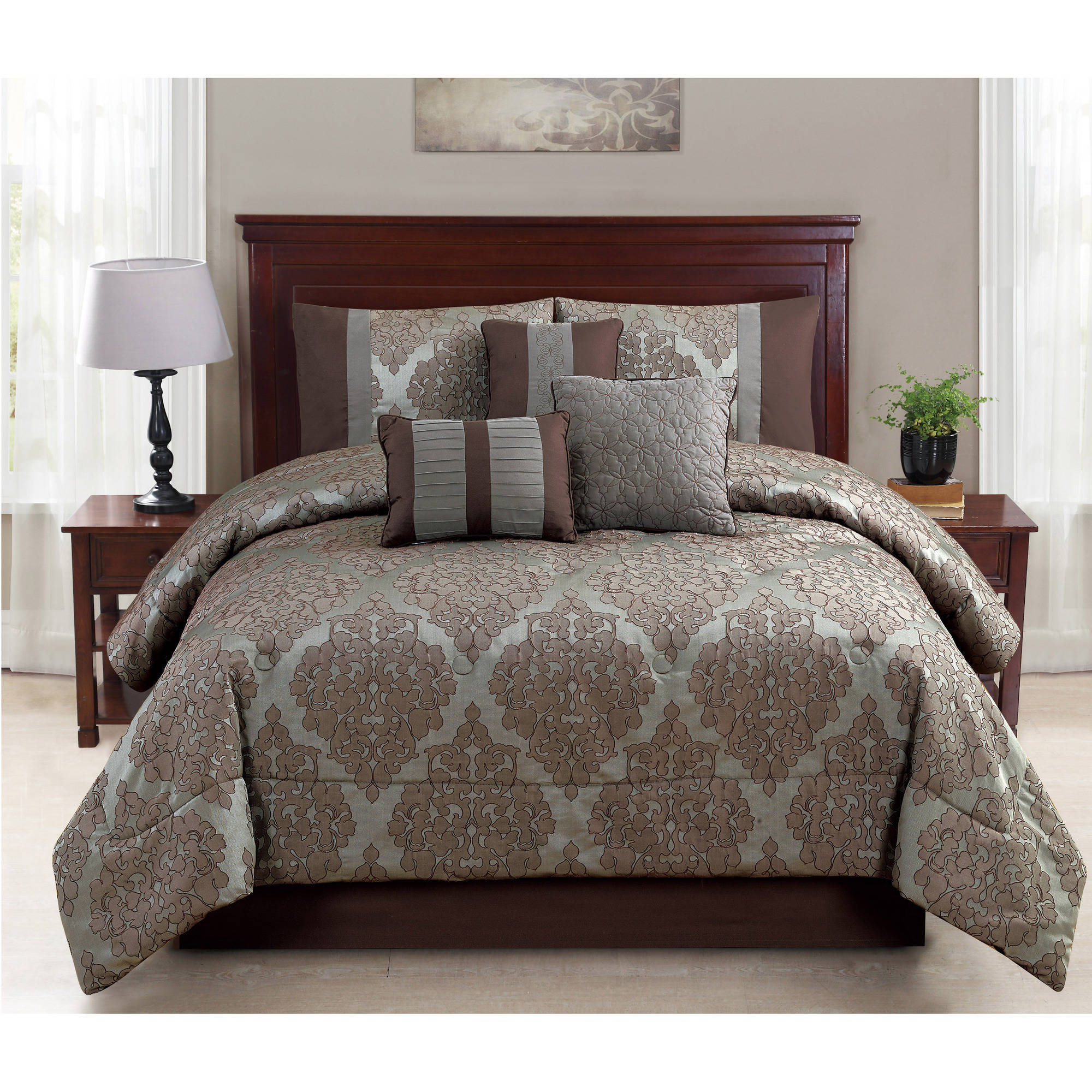 Mainstays 7-Piece Ruth Bedding Comforter Set