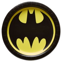 """7"""" Batman Round Paper Dessert Plates, 8ct"""