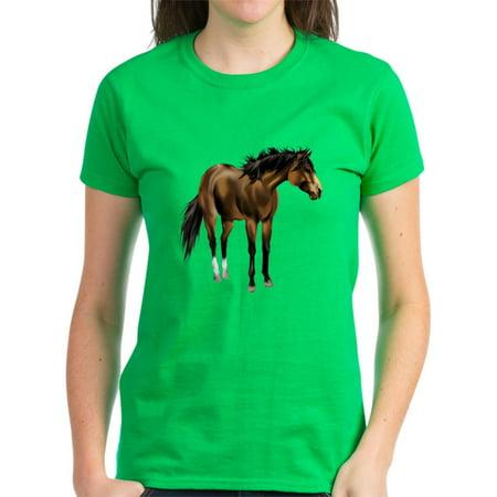 ae6a8139b CafePress - CafePress - Buckskin Horse Trans T Shirt - Women s Dark T-Shirt  - Walmart.com