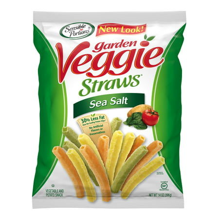 Sensible Portions Sea Salt Garden Veggie Straws, 14 Ounce Bag