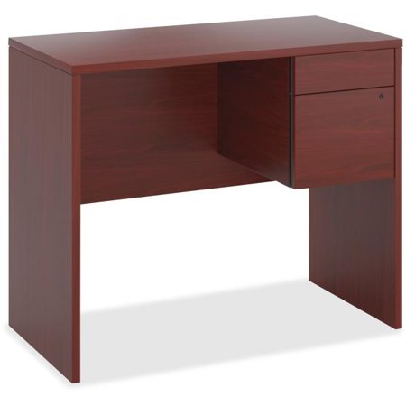 - 28.5 x 16 x 24 in. 0.75 Pedestal Box & File Wood Desking - Mahogany