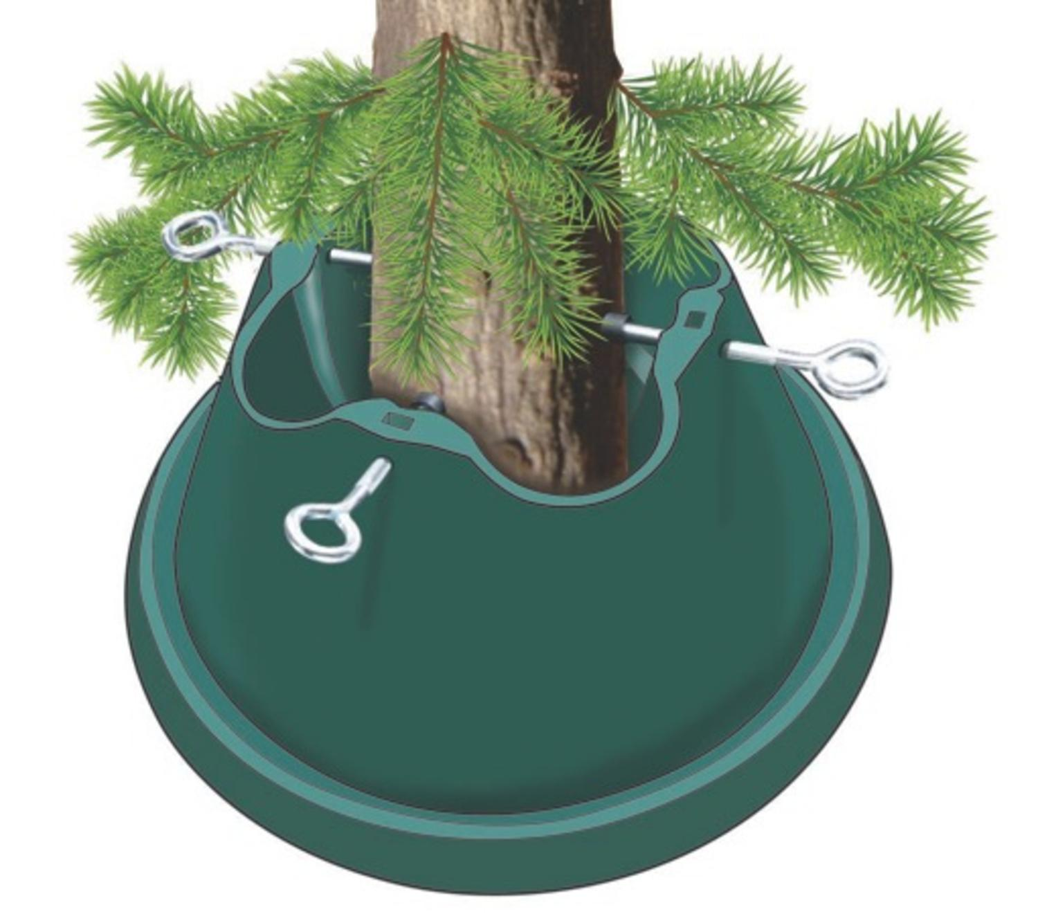 Heavy Duty Green Easy Watering Christmas Tree Stand   For Live Trees Up To  8u0027   Walmart.com
